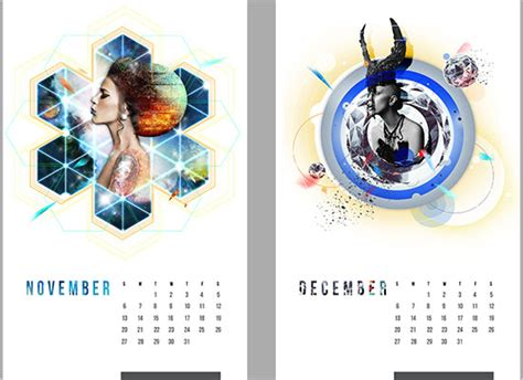 Design Inspiration Calendar | 25 new year 2014 wall desk calendar designs for inspiration