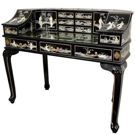 of pearl desk black lacquer desk w of pearl