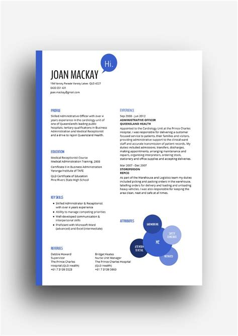 Queensland Government Resume Templates by Cv Template Queensland Health
