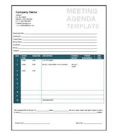 Template For Meeting Agenda by 51 Effective Meeting Agenda Templates Free Template