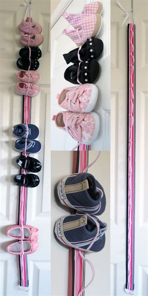 baby shoe storage ideas hanging baby shoe organizer with elastic store 9 pairs of