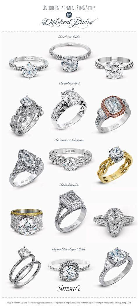 simon  engagement ring styles   bride bridal