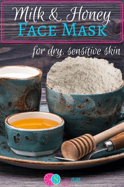 diy mask for sensitive skin milk and honey mask for sensitive skin simple