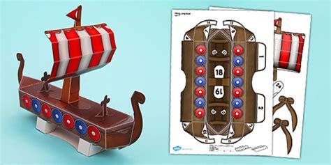 viking longboat origami viking long boat paper model viking long boat craft paper