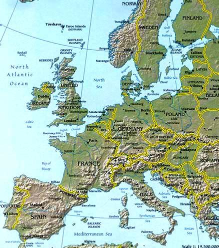 geographical map of europe europe map map of europe facts geography history of