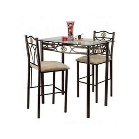 glass counter height dining table dining table glass bistro set counter height pub stools