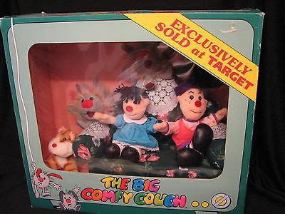 the big comfy couch toys 1997 the big comfy couch mini s plush set in box