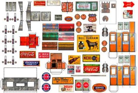 printable garage diorama printable diorama templates garage bing images