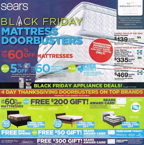black friday bed deals black friday 2015 sears mattress ad scan buyvia