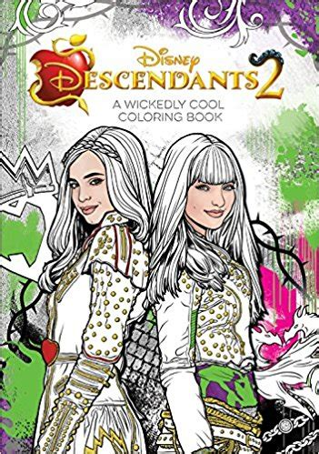 descendants 2 a wickedly cool coloring book only 11 18