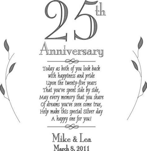 25th anniversary poems for cards search anniversary ideas anniversary