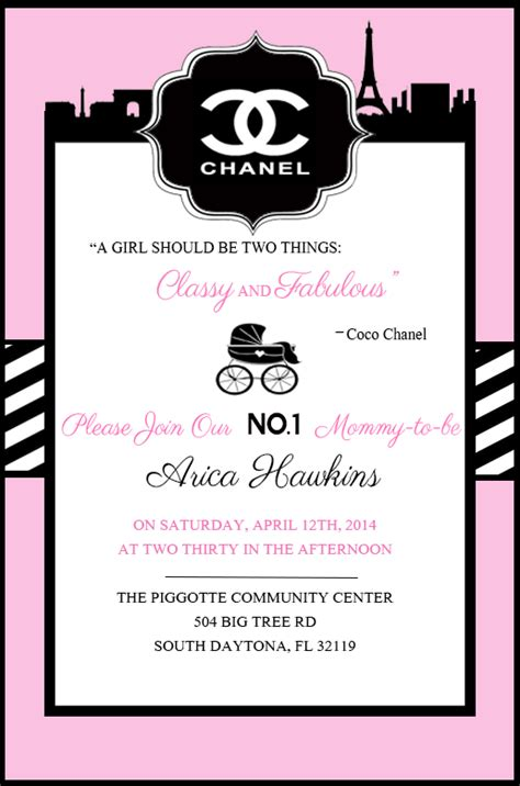 coco chanel baby shower party ideas photo