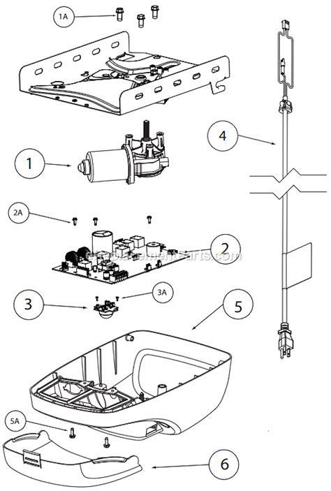 genie garage door opener parts diagram genie 4024 parts list and diagram intellig 1200