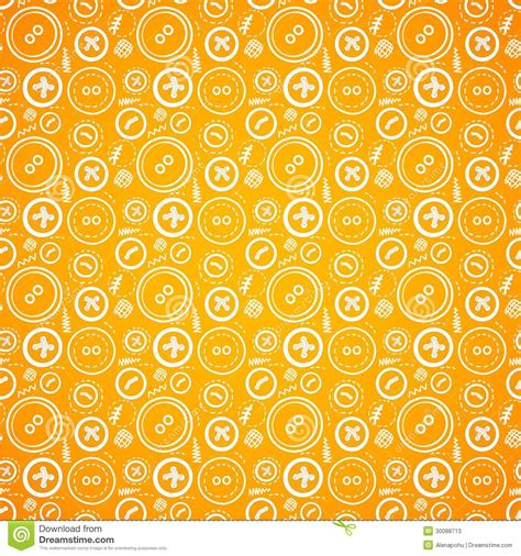 orange pattern web vintage buttons sew seamless pattern in orange stock