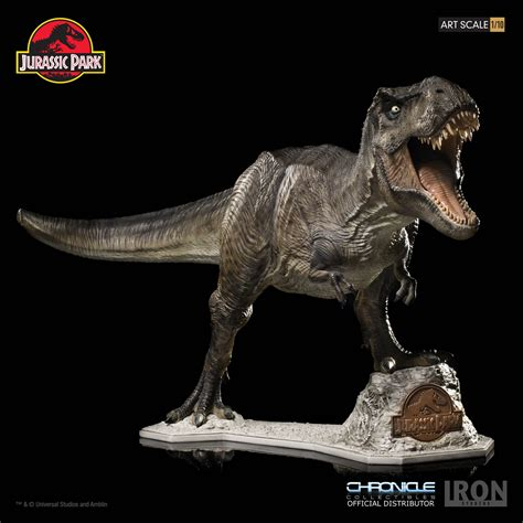 Jurassic Park Collectibles jurassic park t rex by iron studios and chronicle
