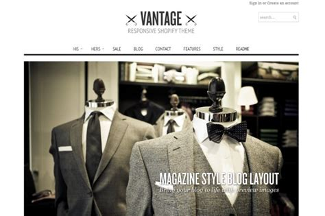 Shopify Themes Vantage | top 50 shopify themes for your ecommerce store