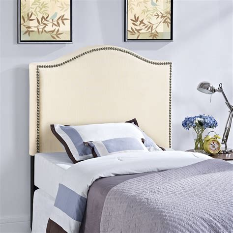 nailhead upholstered headboard curl nailhead upholstered headboard ivory dcg stores