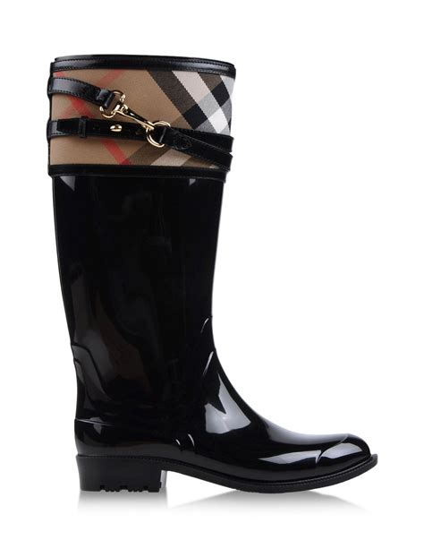burberry boots burberry rainboots wellies in black lyst