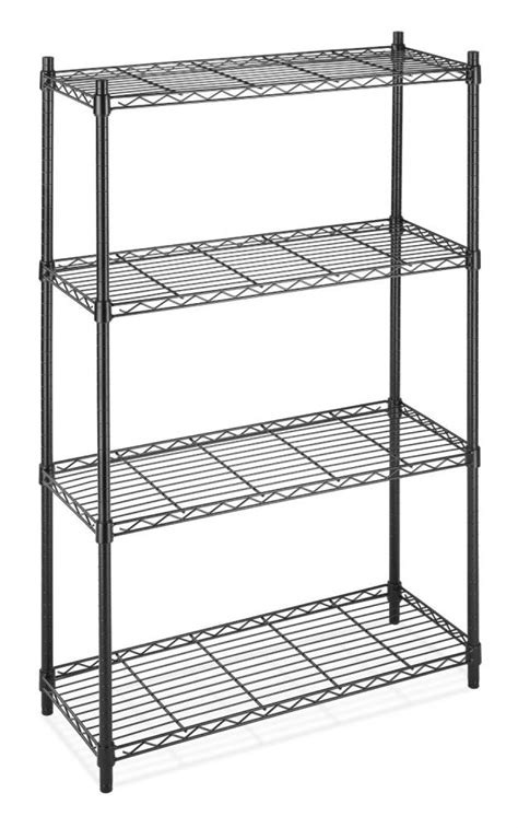 black chrome storage rack 4 tier organizer kitchen