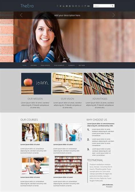 Weebly Education Templates 23 Georgeous Free Weebly Themes Ginva