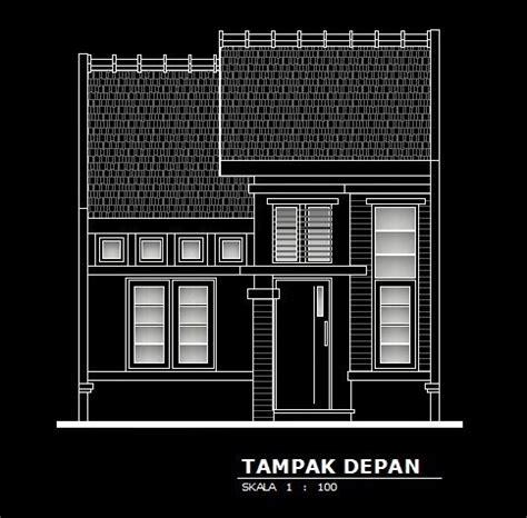 gambar rumah format dwg auto cad model rumah minimalis type 40 sanggar teknik