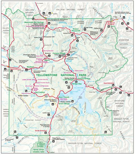 map usa yellowstone park yellowstone map yellowstone maps