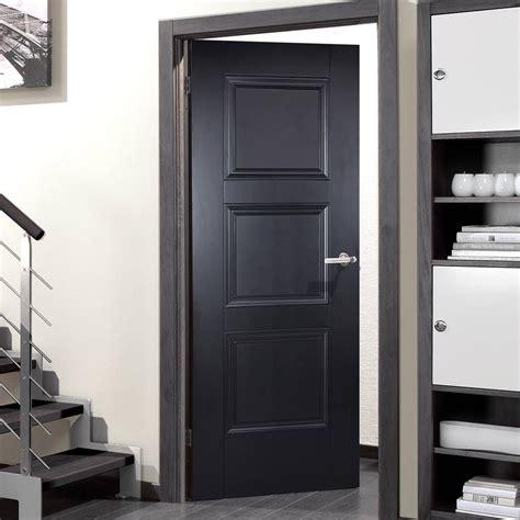amsterdam  panel black primed door