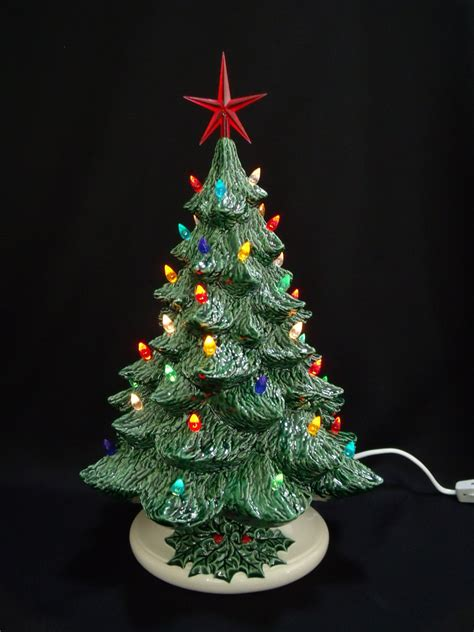 old fashioned ceramic christmas tree 16 inches