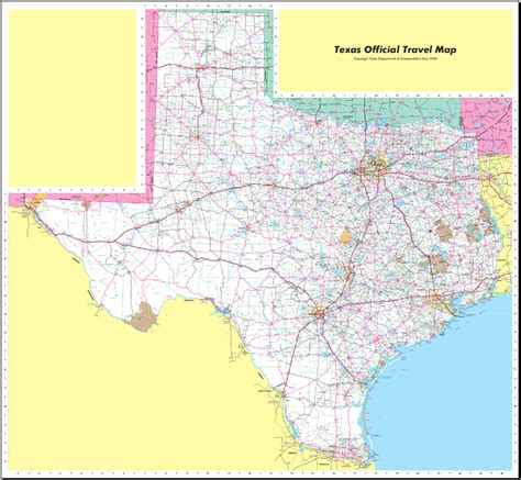texas in map of usa map of texas map worldofmaps net maps and travel information