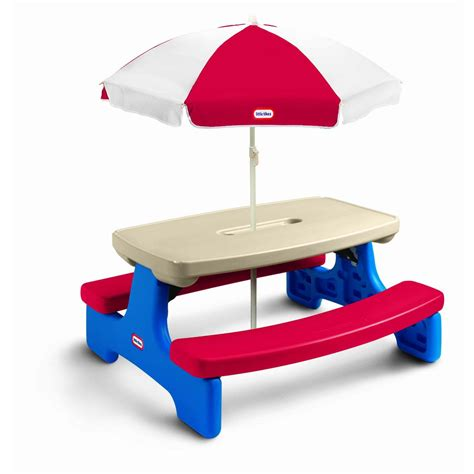 picnic table with umbrella little tikes easy store picnic table with umbrella by oj