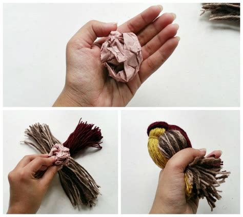 cute bird made of leftover yarn recycled crafts