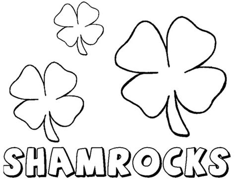 20 free printable shamrock coloring pages