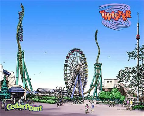 theme park houston artwork wicked twister at cedar point 2002 preview