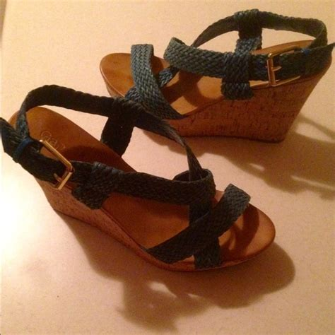 Wedges Bb 08 M0ca 74 gap shoes gap wedges with blue straps from s closet on poshmark