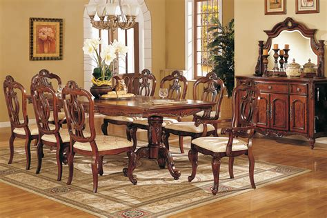 elegant dining room furniture sets perfect formal dining room sets for 8 homesfeed