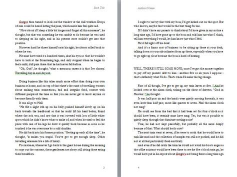proper manuscript format for a novel first manuscript