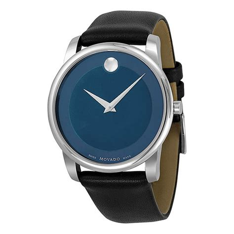 movado museum blue stainless steel s 0606610