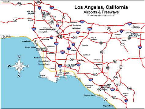 california map of airports airports in los angeles county california