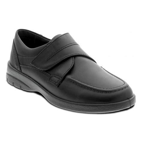 velcro shoes for padders mens solar black velcro fastened shoes