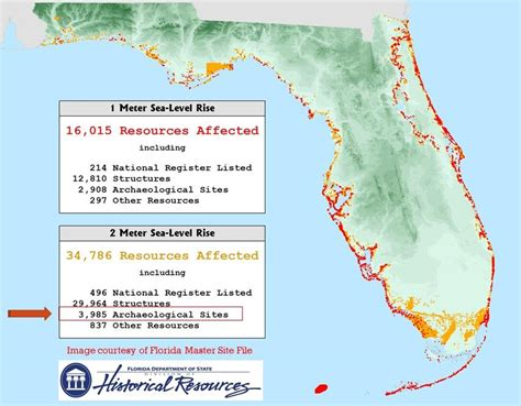 florida sea level map florida archaeology month highlights mississippian period