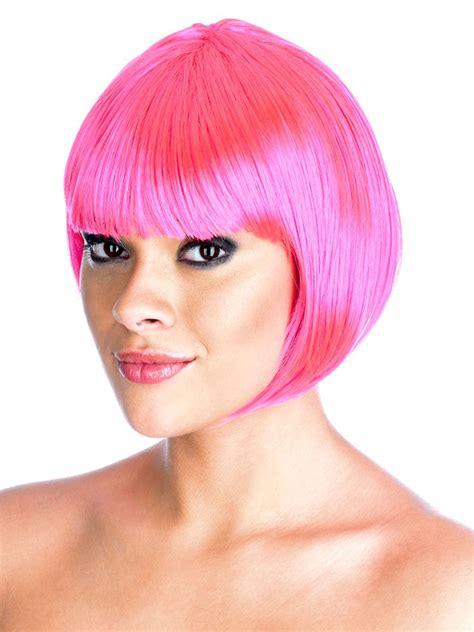 Termurah Wig Bob Pink Wig pink bob wigs uk colorful cheap wigs