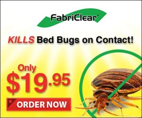 fabriclear kills bed bugs by contact as seen on tv
