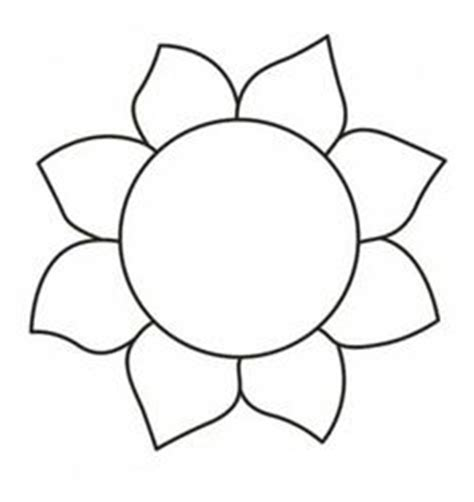 sunflower template printable flower template free printable search applique
