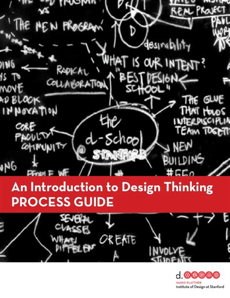 design thinking guide pdf d school s design thinking process mode guide