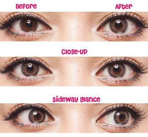 color contact lens geo tri color grey circle lenses colored contacts