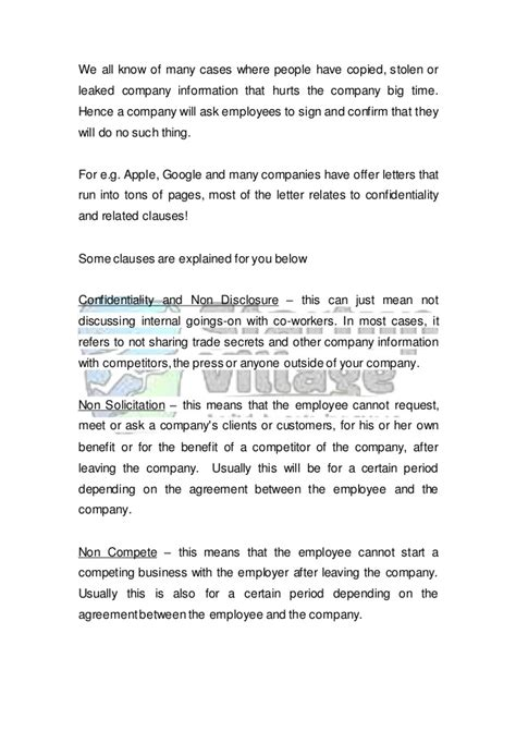 Offer Letter Clauses a guide to the employee offer letter