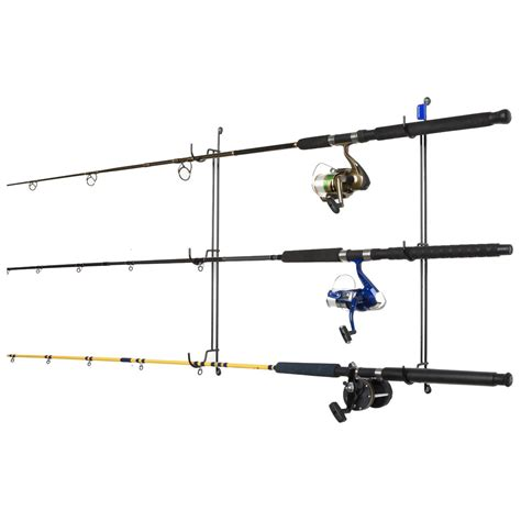 Fishing Rod Rack Horizontal by Horizontal Fishing Rod Rack Coated Wire 3 Rods Dcg Stores