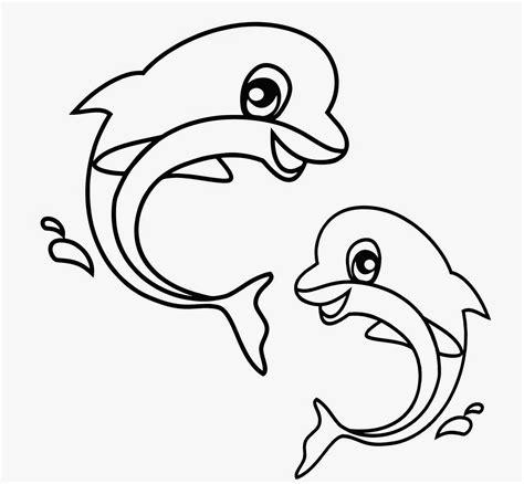 gambar mewarnai 2 lumba lumba bahasapedia bahasapedia