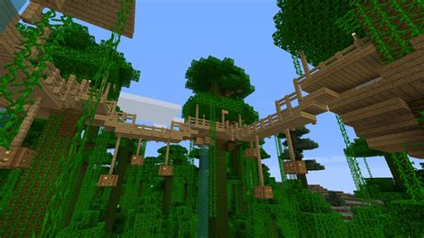 Gallery For Gt Minecraft Jungle Treehouse Design