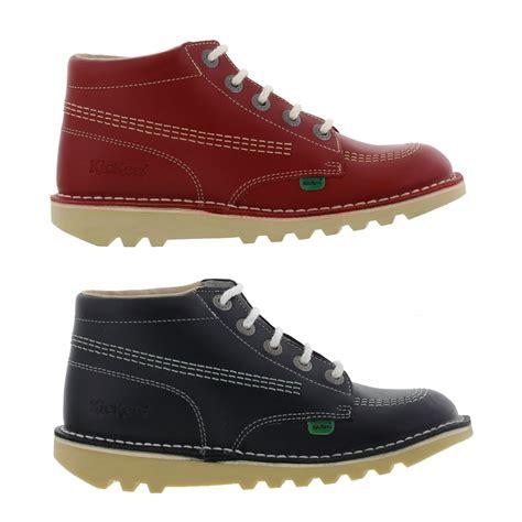 Kickers Traking Nevy kickers kick hi womens leather ankle boots navy size 4